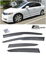 For 06-11 Civic Mugen Ii Style Window Rain Guard Visors 4drs Sedan Honda Jdm Si (Fits: Honda)