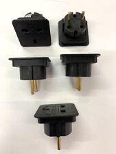 5 X UK-TO-EUROPE-EU-Travel-Adapter-Power-Plug