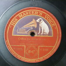 78rpm JOHN McCORMACK calling me home to you , single side