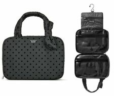 Victoria's Secret Cosmetic travel black polka dot hanging foldable case New bag