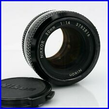 NIKKOR 50mm f1.4 nikon mount vintage obiettivo lente non-ai lens portrait