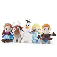 Frozen Elsa Anna Olaf 30cm Plush Soft Toy Doll Kids Toys Set of 5