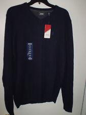 IZOD Mens Sweater V Neck Lightweight L Large NAVY BLUE Brand New FASHION
