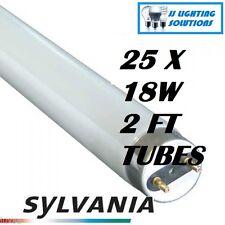 Una caja (25 Lámparas) 18W 2FT tubos de 865 luz de día 0001477 Sylvania 590MM 6500K