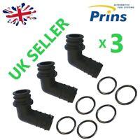 Prins VSI KME LPG reducers elbow knee incl. O-rings (water and gas) german made