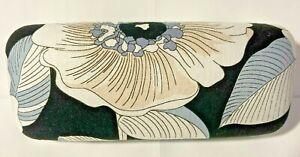 Vera Bradley Large Clam Shell Eyeglass Case Floral Tan/Grey/Black EUC Very Clean