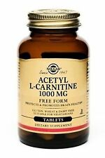 Solgar Acetyl L Carnitine 1000 mg 30 Tablets Promotes Brain Health, New/Sealed