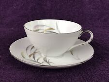 Wentworth China Japan Eterna Shape Pampas 7545 Replacement Flat Tea Cup Saucer