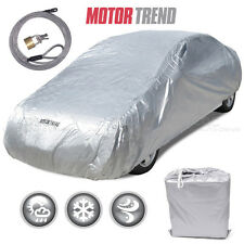 "Motor Trend All Season Outdoor Waterproof Car Cover Fits up to 210"" W/ Lock"