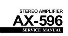 Yamaha AX-596 Amplificateur Stéréo service manual Inc schémas imprimé en anglais