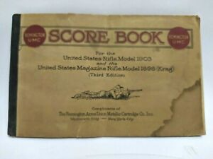 Remington UMC Rifle Score Book 1903 &1898 Krag Gun Springfield Military Antique