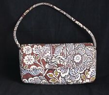 Vera Bradley Slate Blooms Brown Purse Bag Knot Clutch Removable strap