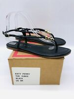 Katy Perry Women's The Jubee Beaded Thong Sandals - Black US 9M