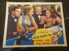 THE BRIDE WALKS OUT MOVIE ORIGINAL 1936 LOBBY CARD BARBARA STANWYCK