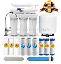 5 Stage Home Drinking Reverse Osmosis System PLUS Extra 7 USA Water USA Filters