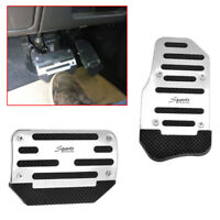 Silver Racing Sports Non-Slip Automatic Car Gas Brake Pedals Pad Cover Durable