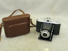Agfa Isolette I 120 folding camera with 85mm f4.5 Agnar Lens And Case
