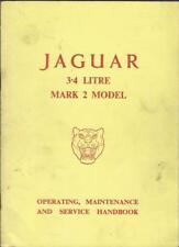 JAGUAR 3:4 Litre Mark 2 Model Operating Maintance + Service Handbook Handbuch BA