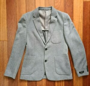 Gianni Feraud Blazer - Wool Blend - Blue/Grey - Size S