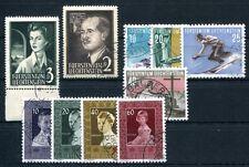 LIECHTENSTEIN 1955 332-341 gestempelt Jahrgang 220€(A9273