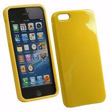 SILICON CASE CUSTODIA MORBIDA IN SILICONE LUCIDO per iPhone 5 / 5S GIALLO