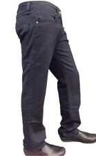 Mens Jeans Blue Indigo Pants Denim Straight Stretch Casual Trousers Fashion
