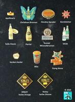 Energiedrinks, Limonaden, Mixgetränke, Säfte, Wasser Abzeichen Pins AUSSUCHEN