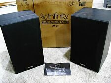 INFINITY SM 65 MONITOR SPEAKERS Nice with original box