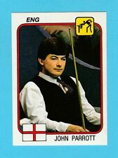 SNOOKER - PANINI - SUPERSPORT STICKER NO. 91  -  JOHN  PARROTT  -  1987