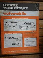 REVUE TECHNIQUE N°405 NOV. 1980 OPEL KADETT D TRACTION AV. 1.2 1.2S 1.3S (B3)