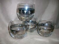 4 MID CENTURY MEDICAL DOCTOR PHYSICIAN ROLY POLY LIQUOR BARWARE GLASSES