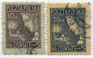 Poland 1927 Semi-Postal set of 2 used