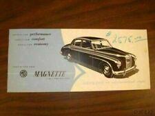 MG MAGNETTE SALES BROCHURE MANUAL CATALOG CF2049