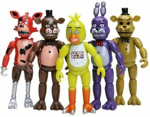 5 Pcs Five Nights At Freddy's FNAF 6'' Action Figures Holiday gift toy