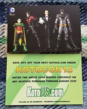 SDCC Kotobukiya DC Batman Promo Card