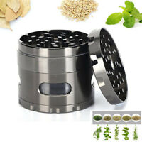 4 Layer Tobacco Cutter Herb Muller Hand Spice Weed Shredder Zinc Alloy Crusher