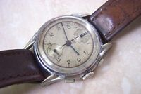 A HUBEX UP-DOWN MANUAL WIND CHRONOGRAPH WATCH c. LATE 1940'S