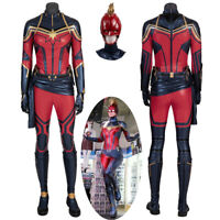 HZYM Captain Marvel Carol Danvers Cosplay Costume Leather Full Suit Custom Made