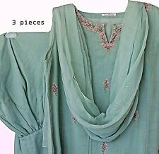 3 pcs  STITCHED 100%cotton Embroidered - Designed Salwar Kameez. from INDIA