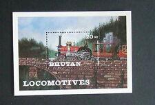 Bhutan 1984 Railway Locomotives Miniature Sheet MNH Um unmounted mint MS train