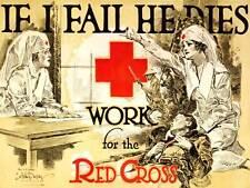 Cruz Roja Enfermera de propaganda de la segunda guerra mundial reclutar anuncio Cartel de impresión de arte BB9360