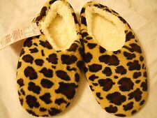 Women Slippers Size S 5/6 Brown  Animal Print Shoes