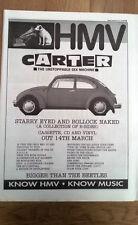 CARTER USM Starry Eyed.HMV 1994 Poster size Press ADVERT 16x12 inches