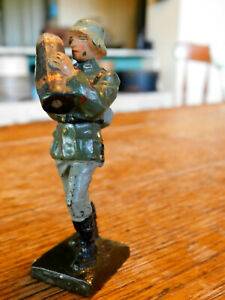 Vintage Lineol Elastolin Composition Soldier Carrying Artillery Shell-Germany