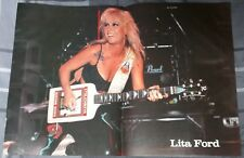 LITA FORD LIVE / THE RUNAWAYS / 1980'S MAGAZINE CENTERFOLD PINUP