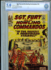 Sgt. Fury and His Howling Commandos #16 1965 Silver Age Marvel Comics Cbcs 5.0