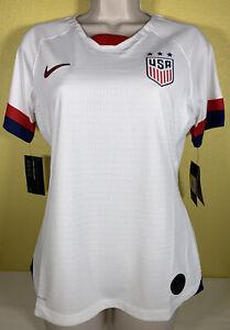 Women's Nike USA 2019 Home Vapor Match Soccer Jersey White AJ4330-100 Size Small