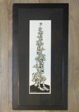 2006 Stacked Crouching Skeletons - Custom Framed Handbill s/n by Emek