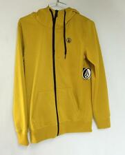 Volcom Women's Samba Hydro Fleece Zip Hoodie Bronze Yellow Ladies Small NEW
