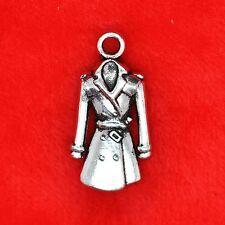 2 x Tibetan Silver Trench Coat Sherlock Holmes Charm Pendant Bead Making